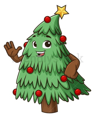 Christmas tree waving. PNG - JPG and vector EPS (infinitely scalable).