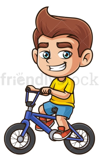 Kid riding bike. PNG - JPG and vector EPS (infinitely scalable).