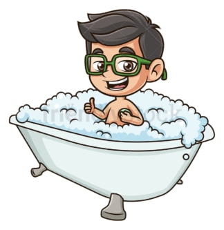 Kid in bathtub. PNG - JPG and vector EPS (infinitely scalable).